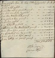 1770 Honorarforderung Eines Anwaltes Für Erbrachte Leistungen - Historical Documents