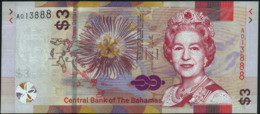 ♛ BAHAMAS - 3 Dollars 2019 UNC P.New - Bahamas