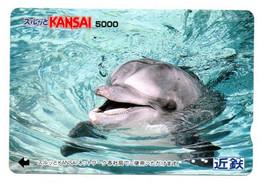 Dauphin Dolphine Poisson Carte Prépayée Card Japon (D 1090) - Dolphins