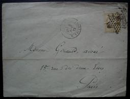 Paris 1872 Etoile 22 Rue Taitbout, Sur Lettre Locale - 1849-1876: Periodo Clásico