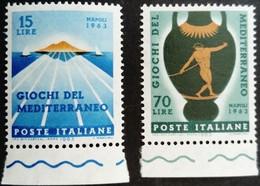 Italie Italy Italia 1963 Sport Jeux Méditerranéens Giochi Del Mediterraneo Yvert 893-894 ** MNH - 1961-70: Ungebraucht