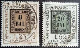 Italie Italy Italia 1959 Centenaire Timbre Romagne Centenario Francobollo Yvert 800-801 O Used Usato - 1946-60: Gebraucht