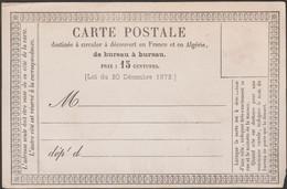 France Vers 1874. Carte Précurseur 10 - Precursor Cards