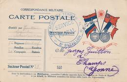 13556 56é Régiment Territorial - 5é Bataillon - Secteur Postal 32 - 27/4/15 à CHAMPS (YONNE) - 1. Weltkrieg 1914-1918