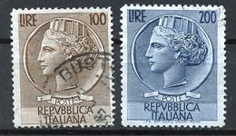 Italie - Italy - Italien 1954 Y&T N°684 à 685 - Michel N°920 à 921 (o) - Monnaie Syracusaine - Filigrane A - 1946-60: Usados