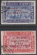 1938. */º Edifil: CANARIAS 56/57. MONTE DE LA ESPERANZA SOBRECARGADO - 1931-50 Ongebruikt