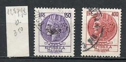 Italie - Italy - Italien 1976 Y&T N°1257 à 1258 - Michel N°1522 à 1523 (o) - Monnaie Syracusaine - 1971-80: Usados