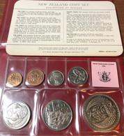 NEW ZEALAND NUOVA ZELANDA 1976 UNC Set: 1 Cent - 1 DOLLARO Royal Mint Fdc - New Zealand