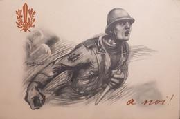 Cartolina - Militaria WWI - Zona Di Guerra - A Noi! - 1918 - Altri