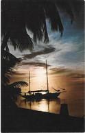 Tahiti - Coucher Du Soleil Sur Le Lagon De Maharepa Moorea - Tahiti
