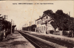 Thematiques 08 Ardennes Signy Le PetitLa Gare Ligne Charleville Hirson - Other Municipalities