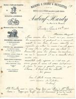 Courrier 1902 / 10 ROMILLY SUR SEINE / AUBEUF HARDY / Machines à Coudre, Bicyclettes, Moteur Gaz, Pétrole - 1900 – 1949