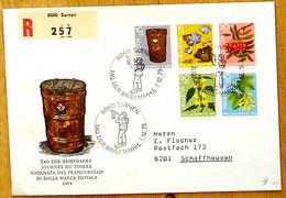 Schweiz Suisse Pro Juventute 1975: Zu 252-256 Mi 1062-66 Yv 994-998 Auf R-Brief Mit O SARNEN 7.12.75 TAG DER BRIEFMARKE - Covers & Documents