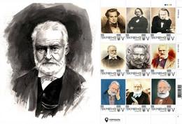 Ukraine 2020, World Literature, Writer Victor Hugo, Sheetlet Of 9v - Ucrania