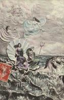 Illustrateur Allegorie  Bonne Année Recto Verso - Anno Nuovo