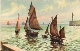 M VIVIER  Bateaux De Peche Recto Verso - Malerei & Gemälde