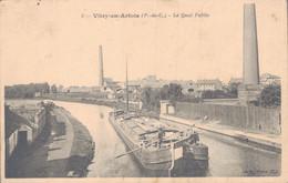 62 - VITRY EN ARTOIS / LE QUAI PUBLIC - PENICHE BEAU PLAN - Vitry En Artois