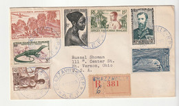 Lettre Recommandée Brazzaville/ A.E.F. Pour Les USA / Mount Vernon, 1955 - Briefe U. Dokumente