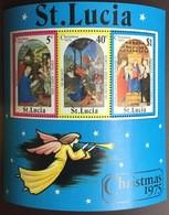 St Lucia 1975 Christmas Minisheet MNH - St.Lucia (...-1978)