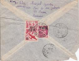 REUNION Lettre Recommandée De SAINT PIERRE 1950 - Brieven En Documenten