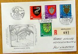 Schweiz Suisse Pro Juventute 1979: Zu WI 269-272 Mi 1165-1168 Yv 1095-1098 Mit O RORSCHACH 1-2.12.79 TAG DER BRIEFMARKE - Stamp's Day