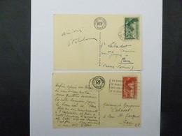 N°  354  ET  355   SUR  CARTES  DU  MUSEE  DU  LOUVRE - 1921-1960: Periodo Moderno