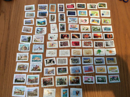 Lot De 81 Timbres Autocollants Sur Fragment France Année 2012 Et + - Used Stamps