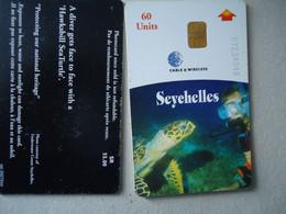 SEYCHELLES USED PHONECARDS ANIMALS TURTLES - Tartarughe