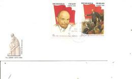 Lénine ( FDC Du Nicaragua De 1985 à Voir) - Lenin