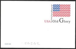 Stati Uniti/United States/États-Unis: Intero, Stationery, Entier, Bandiera USA, USA Flag, Drapeau Des Etats Unis - Sobres