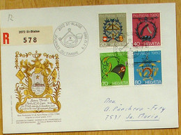 Schweiz Suisse Pro Patria 1980: Zu WII186-189 Mi 1176-1179 Yv 1106-1109 Mit O ST. BLAISE 5-7.12.80 JOURNÉE DU TIMBRE - Stamp's Day