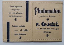 EPINAL Photomaton P. Gollé Place Des Vosges - 1800 – 1899