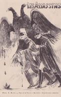 Cpa Militaria Propagande 1914 Ww Les Assassins Illustrée Suire Aigle A 2 Tètes Kaiser Guillaume II Et François-Joseph 1 - Altre Illustrazioni