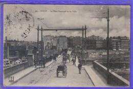Carte Postale 29. Brest Le Pont National Et La Ville Très Beau Plan - Brest