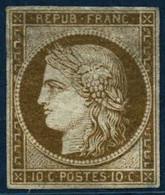 ** N°1 10c Bistre-jaune, Qualité Standard - B - 1849-1850 Ceres