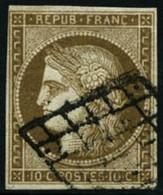 Oblit. N°1b 10c Bistre Verdâtre - TB - 1849-1850 Ceres