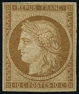** N°1F 10c Bistre, Réimp - TB - 1849-1850 Ceres