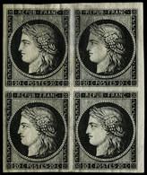 ** N°3a 20c Noir S/blanc, Bloc De 4 - TB - 1849-1850 Ceres