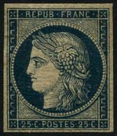 * N°4a 25c Bleu Foncé, Signé Balasse - TB - 1849-1850 Ceres