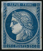 ** N°4d 25cbleu, Réimp - TB - 1849-1850 Ceres