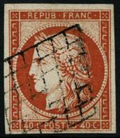 Oblit. N°5 40c Orange, Pièce De Luxe - TB - 1849-1850 Ceres