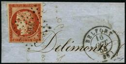 Oblit./ Fragment N°5a 40c Orange Vif - TB - 1849-1850 Ceres
