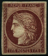 * N°6 1F Carmin, Qualité Standard - B - 1849-1850 Ceres