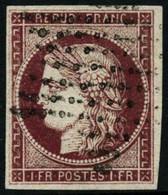Oblit. N°6 1F Carmin - TB - 1849-1850 Ceres
