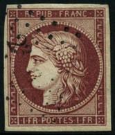 Oblit. N°6a 1F Carmin Clair - TB - 1849-1850 Ceres
