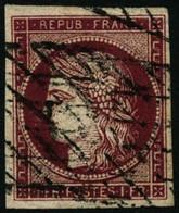 Oblit. N°6b 1F Carmin Foncé, Signé Calves - TB - 1849-1850 Ceres