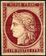 ** N°6f 1F Carmin, Réimp - TB - 1849-1850 Ceres