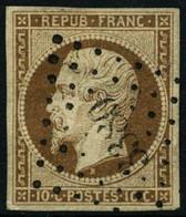 Oblit. N°9 10c Bistre, Obl PC 3380 - TB - 1852 Luis-Napoléon