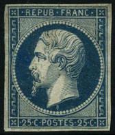 * N°10 25c Bleu , Charnière Un Peu Forte - B - 1852 Luis-Napoléon