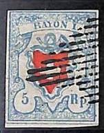 94989aI - SWITZERLAND - STAMPS - Zumstein # 17 II - FINE USED 4 Borders 4 Rande - Gebraucht